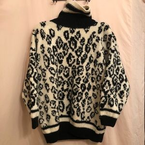 Vintage chunky leopard print sweater